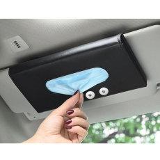 Visera para el sol del coche que cuelga el clip de toalla de papel máscara del coche caja de bombeo de almacenamiento caja de pañuelos de cuero para el coche ajuste interior 18 20 MM broche de presión de botón a presión joyería