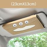 Auto Sonnenblende hängen Papierhandtuch Clip Auto Maske Lagerung Pumpbox Leder Auto Taschentuch Box Innenausstattung 18 & 20MM Snap Buttom Snap Schmuck
