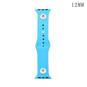 38 / 40MM Aplicable a toda la gama de correas de reloj de Apple disponibles Correa de reloj de silicona monocromática de color sólido de TPU disponible Correa iwatch para 2 piezas de trozos de 12 mm