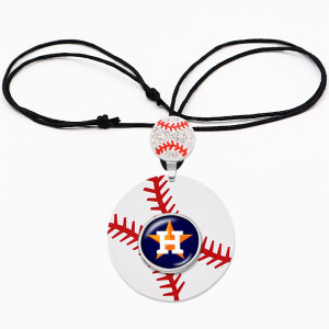 Collar deportivo con logo del equipo con hebilla de vidrio Collar con cadena de ajuste ajustable Piezas de 20 mm broches de presión joyas