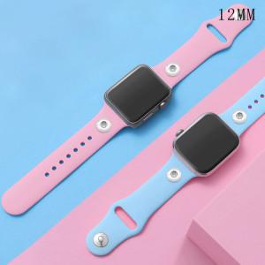 42 / 44MM Aplicable a toda la gama de correas de reloj de Apple disponibles Correa de reloj de silicona monocromática de color sólido de TPU disponible Correa iwatch para 2 piezas de trozos de 12 mm