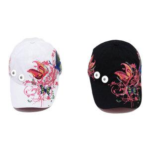 Летняя солнцезащитная дышащая кепка с цветочными бабочками на кнопках 18 мм, бежевого цвета