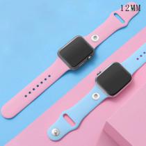 42 / 44MM Applicable à la gamme complète de bracelets de montre Apple disponibles Bracelet de montre en silicone monochromatique de couleur unie TPU Bracelet de montre iwatch adapté aux morceaux de 12 mm