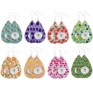 Fruit Leather Snap Earring Fit 20MM Snaps Style Schmuck
