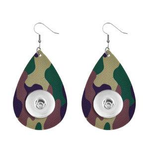 El pendiente a presión de cuero de camuflaje se ajusta a las joyas de estilo broches de 20 mm