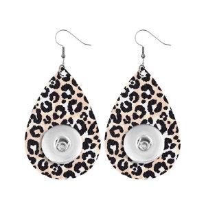 Серьги-кнопки из кожи с леопардовым принтом подходят для украшений в стиле 20 мм с защелками