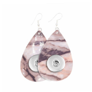 Imitation Marmormuster Leder Snap Earring Pass 20MM Snaps Style Schmuck