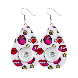 Pendiente a presión de cuero Love del día de San Valentín que se ajusta a las joyas de estilo broches de 20 mm