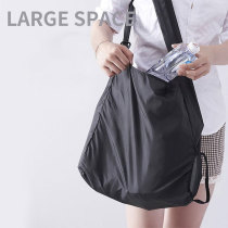 Ultra petit sac de rangement rétractable pliant portable sac à provisions multifonctionnel petit disque adapté aux bijoux à bouton-pression de 18 MM
