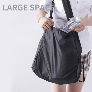 Bolsa de almacenamiento retráctil plegable portátil ultra pequeña bolsa de compras de disco pequeño multifuncional compatible con joyería de botón a presión de 18 mm
