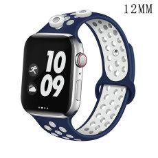 42 / 44MM Applicable à la montre Apple Apple Watch Bracelet en silicone sport respirant bicolore de 6 génération iwatch6 convient à deux morceaux de 12 mm