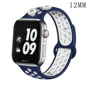 42 / 44MM Anwendbar auf Apple Watch Apple Watch6 Generation zweifarbig atmungsaktiv Sport Sport Silikonarmband iwatch6 passen zwei 12mm Stücke