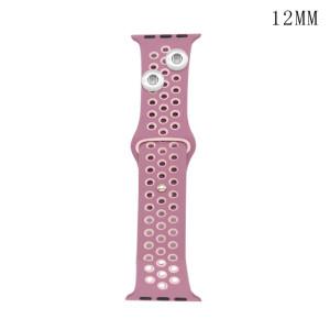 42 / 44MM Aplicable a Apple Watch Apple Watch Correa de silicona deportiva transpirable de dos colores de 6 generaciones iwatch6 se ajusta a dos trozos de 12 mm