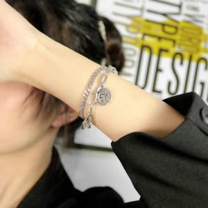 Starfish rundes Marken-Elefantenlegierungszubehör Edelstahl-Doppelschicht-Kettenarmband