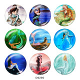 20MM Meerjungfrau-Druck-Glas-Druckknöpfe Strand Ozean