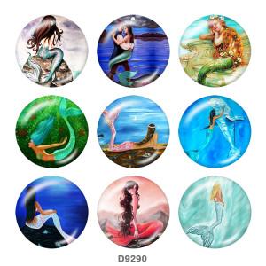 20MM Mermaid Print Glasschnappknöpfe