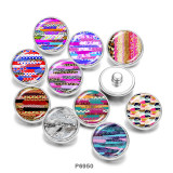 20MM   multicolor Leopard   Pattern   Print   glass  snaps buttons