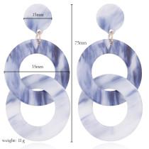 Acrylacetat Platte Creolen lange Ohrringe einfaches geometrisches Design