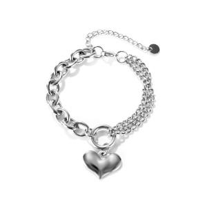 Doppelkettenring Armband Edelstahl Liebesarmband