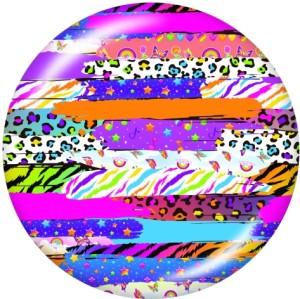 20MM mehrfarbiges Leopardenmuster Druckknöpfe aus Glas