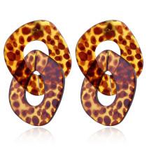 Europäische und amerikanische übertriebene Ohrringe aus Acrylacetat mit Schnalle und großen Kettenohrringen