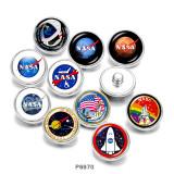20MM  NASA    Print   glass  snaps buttons