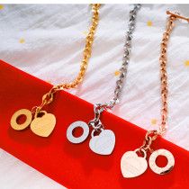 Stainless Steel Women's Bracelet O-chain Love Bible Proverbs 4:23 Bracelet