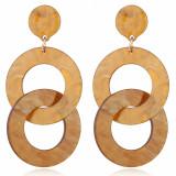 Boucles d'oreilles longues à chaîne en acétate acrylique, conception géométrique simple