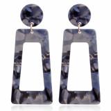 ヒョウ柄の誇張されたイヤリングアクリルアクリルシート幾何学的な長い正方形のT字型のイヤリング