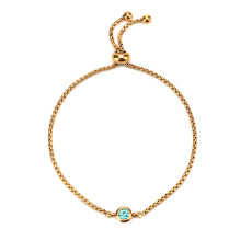 Stainless steel twelve birthday stone ladies bracelet jewelry