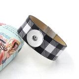 1 boutons en cuir nouveau type Bracelet strass fit 20mm boutons pression