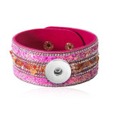 1 buttons leather  new type Bracelet Rhinestone fit 20mm snaps chunks