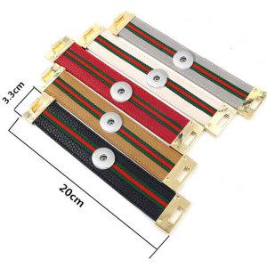 1 Knöpfe Leder neuer Typ Armband Strass passen 20mm Druckknöpfe