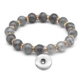 1 boutons avec bracelet élastique en cristal à pression Fit18 & 20MM bijoux à pression