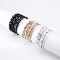 Bohemian Multilayer Crystal Bead Ethnic Leather Bracelet Personalized Fashion Accessories Multilayer Bracelet