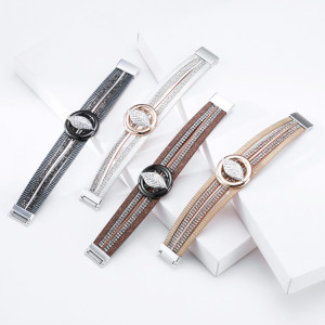 Multilayer hot diamond leaf accessory bracelet creative personality fashion