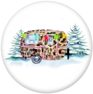 20MM  words   Car   Print   glass  snaps buttons