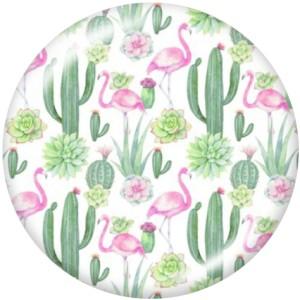 20MM   Flower  pattern   Print   glass  snaps buttons