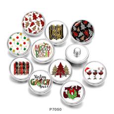 20MM Weihnachtsdruck-Glasdruckknöpfe