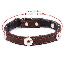 Кожаный ошейник для домашних животных, аксессуары для собак малого и среднего размера, регулируемые принадлежности для домашних животных, подходят 4, 18 и 20 мм, ювелирные изделия с кнопками