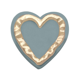20MM Heart LOVE Druckknopf versilbert Mit Resin-Druckknopf