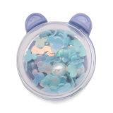 Botones a presión de resina brillante de oso de dibujos animados de 20 mm