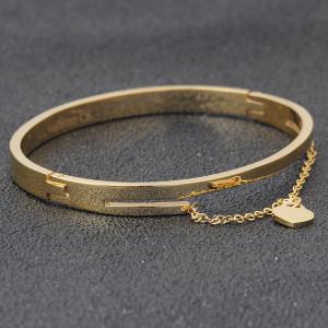 Women's gold stainless steel love bracelet