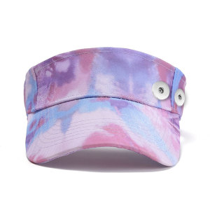 Tie dye chapeau de tennis rétro chapeau de soleil d'été crème solaire fit bouton pression 18 mm beige
