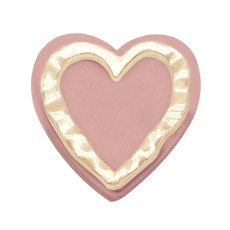 20MM Heart LOVE snap silver  Plated with Resin snap button