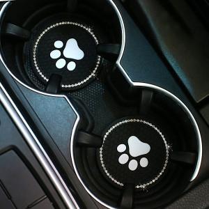 Neuwagen Untersetzer diamantbesetzte PVC Bärentatze Auto Universal Wasser Untersetzer Auto rutschfeste Isolierung Wasser Untersetzer