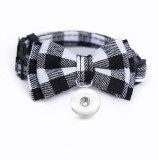 Haustierhalsband Bowknot Katzenhalsband Kleines und mittleres Hundezubehör Verstellbare Haustierprodukte passen auf 1 18 & 20MM Snap Buttom Snap Schmuck
