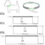 1列の伸縮性ラインストーンペットカラー猫と犬のジュエリーラインストーンカラーフィット18&20MMスナップボタンスナップジュエリー