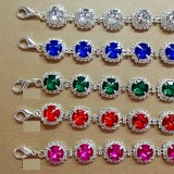 Rhinestone Dog Necklace Jewelry Pet Collar Small and Medium-sized Dogs fit  1 18&20MM snap buttom snap jewelry