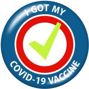 20MM J'ai reçu mon vaccin Boutons-pression en verre imprimé